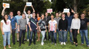 Gruppenfoto vom Team zur Audiodeskription von Olympia und Paralympics 2016